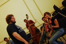 Wilfrido Terrazas en el taller de improvisación